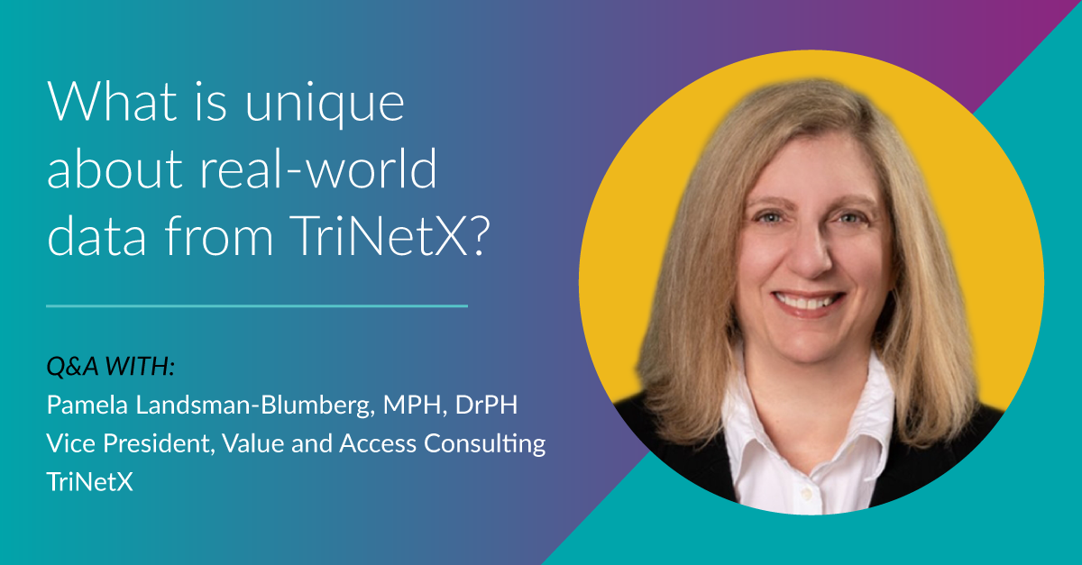 What is unique about real-world data from TriNetX?
